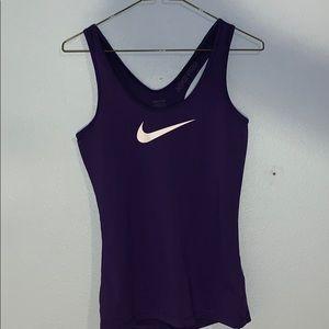 Nike Pro purple tank top